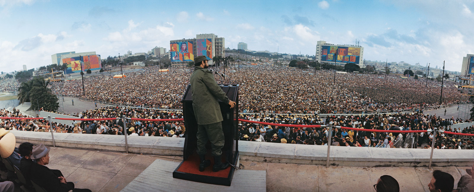"""Fidel Castro during """"The Year of the Heroic Guerrilla,"""" dedicated to the memory of Che Guevara, Revolution Square, Havana, 1967"""