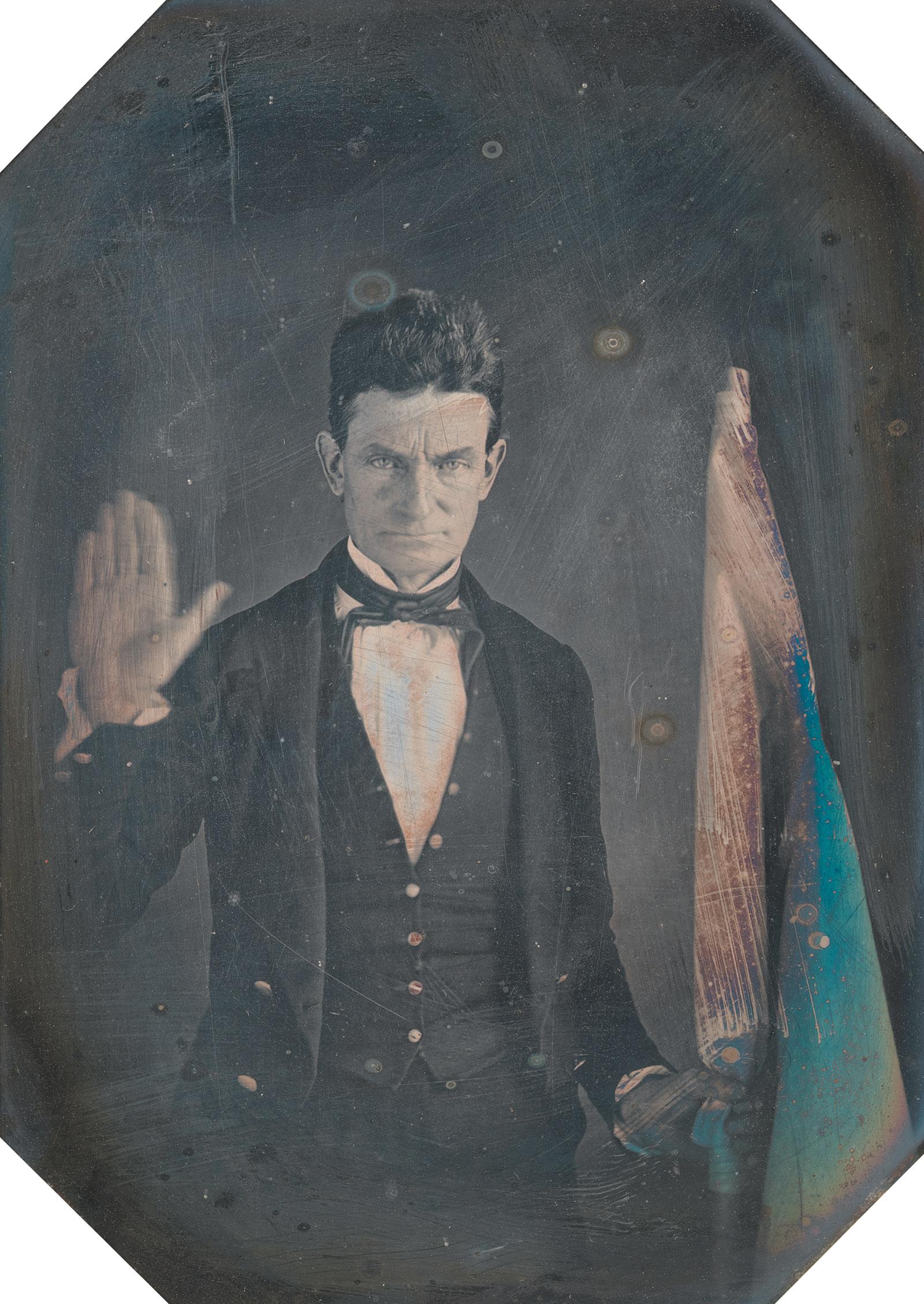 John Brown, circa 1846–1847; daguerreotype by Augustus Washington