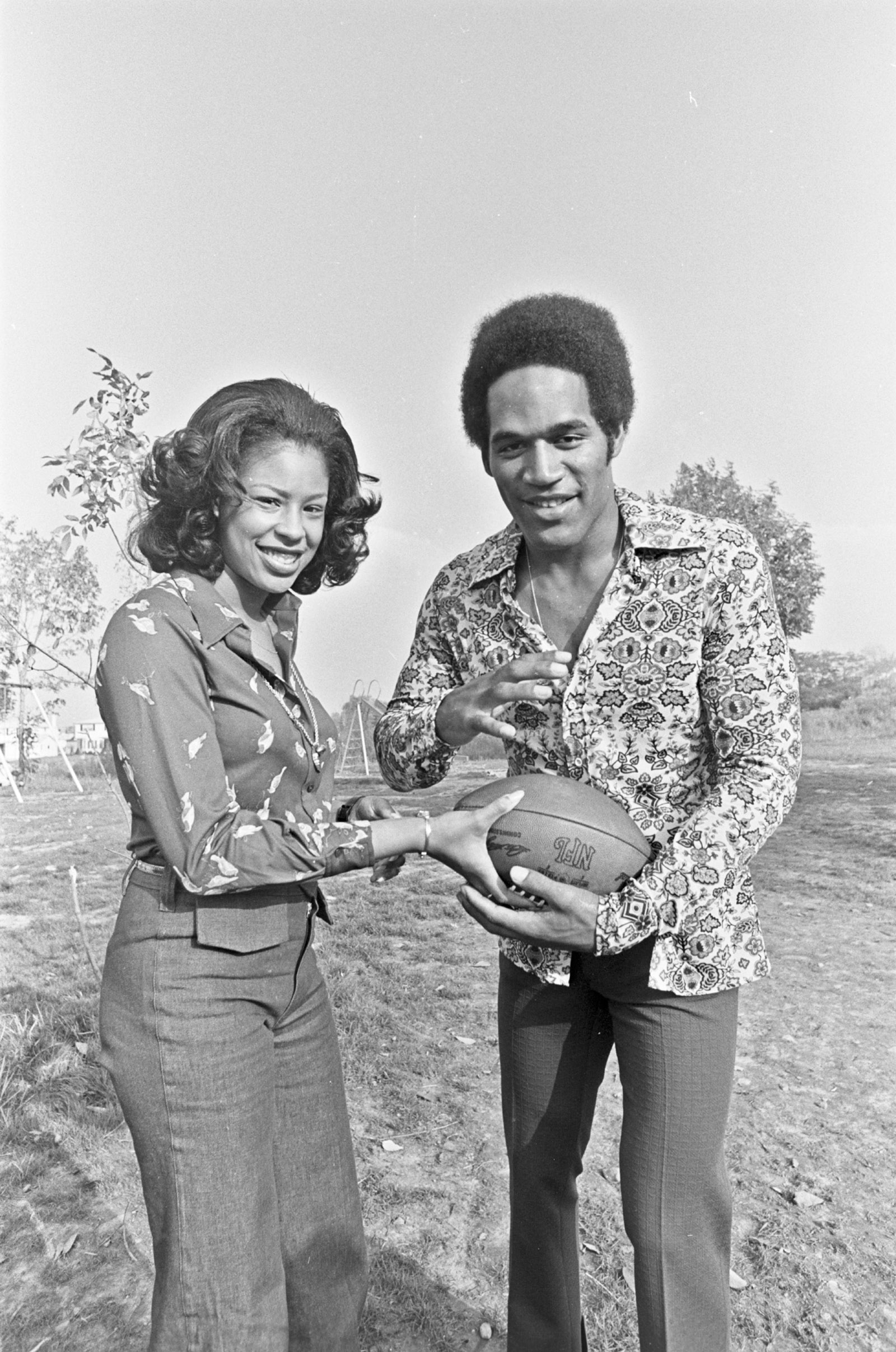 O.J. Simpson with his first wife, Marguerite Whitley, Amherst, New York, 1973; from Ezra Edelman's documentary O.J.: Made in America