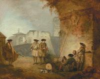 Jean-Antoine Watteau: The Portal of Valenciennes, circa 1710–1711