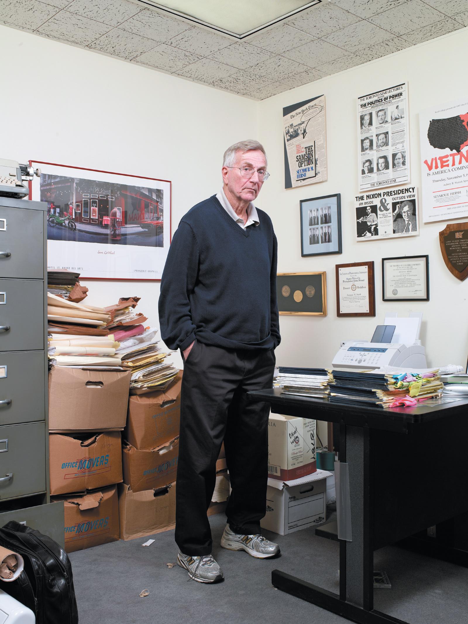 Seymour Hersh in his office, Washington, D.C., 2009