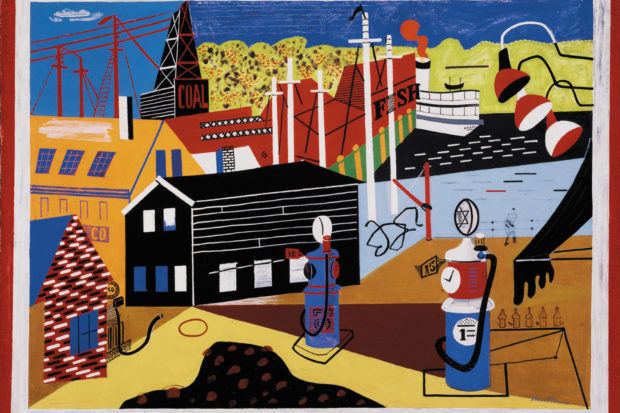 Stuart Davis: <i>Landscape with Garage Lights</i>, 32 x 42 inches, 1931–1932