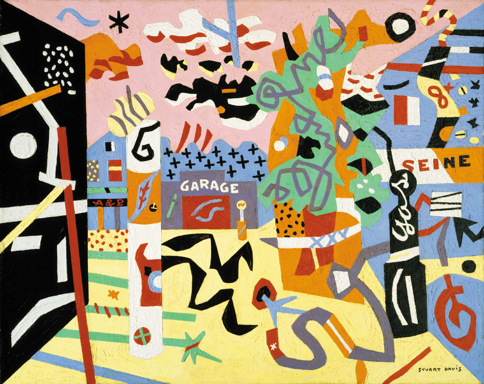 Stuart Davis: Report from Rockport, 24 x 30 inches, 1940