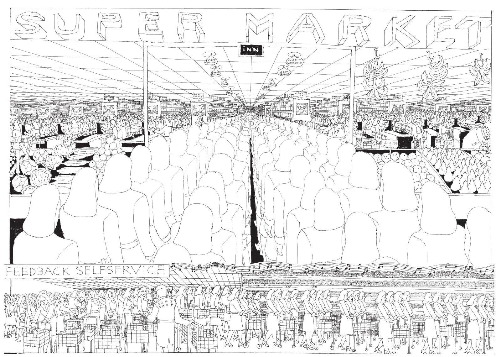 A spread from <em>Soft City</em> by Pushwagner; click on image to enlarge