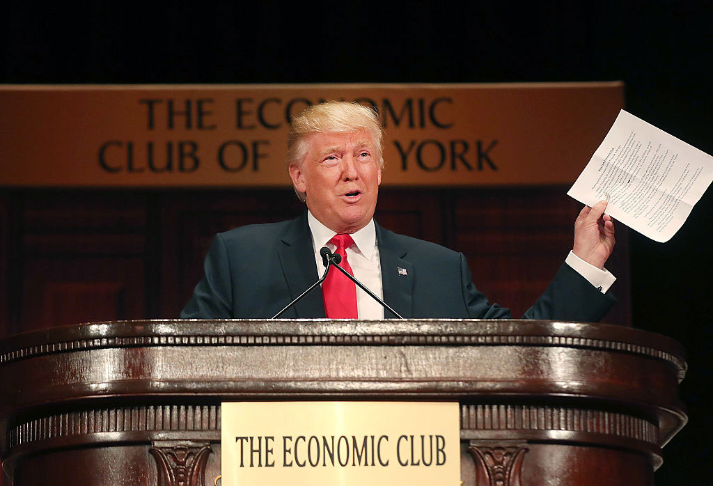 Donald Trump at the Economic Club of New York, September 15, 2016