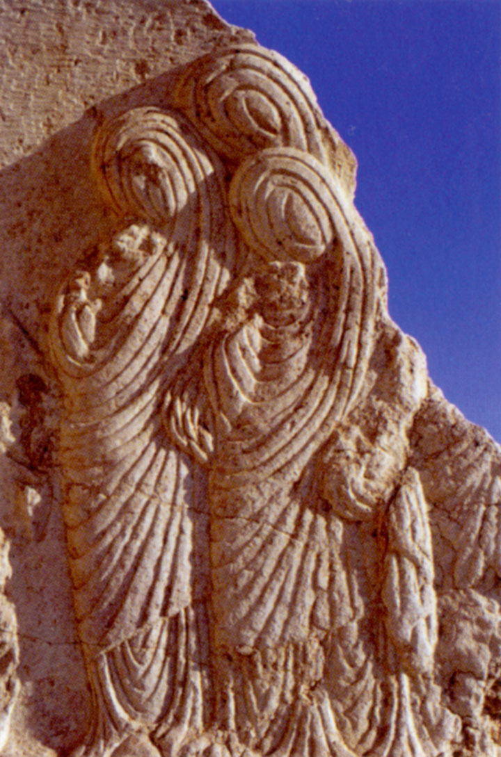 Veiled women in a bas-relief from the now-destroyed Temple of Bel at Palmyra