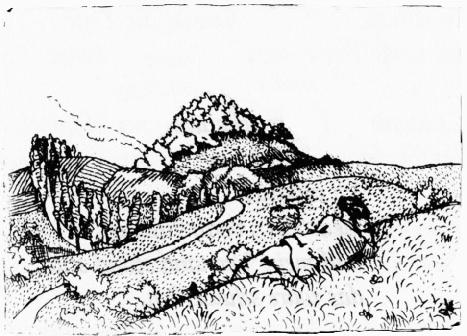 Drawing by Karl Walser from Robert Walser Gedichte, 1908-1909