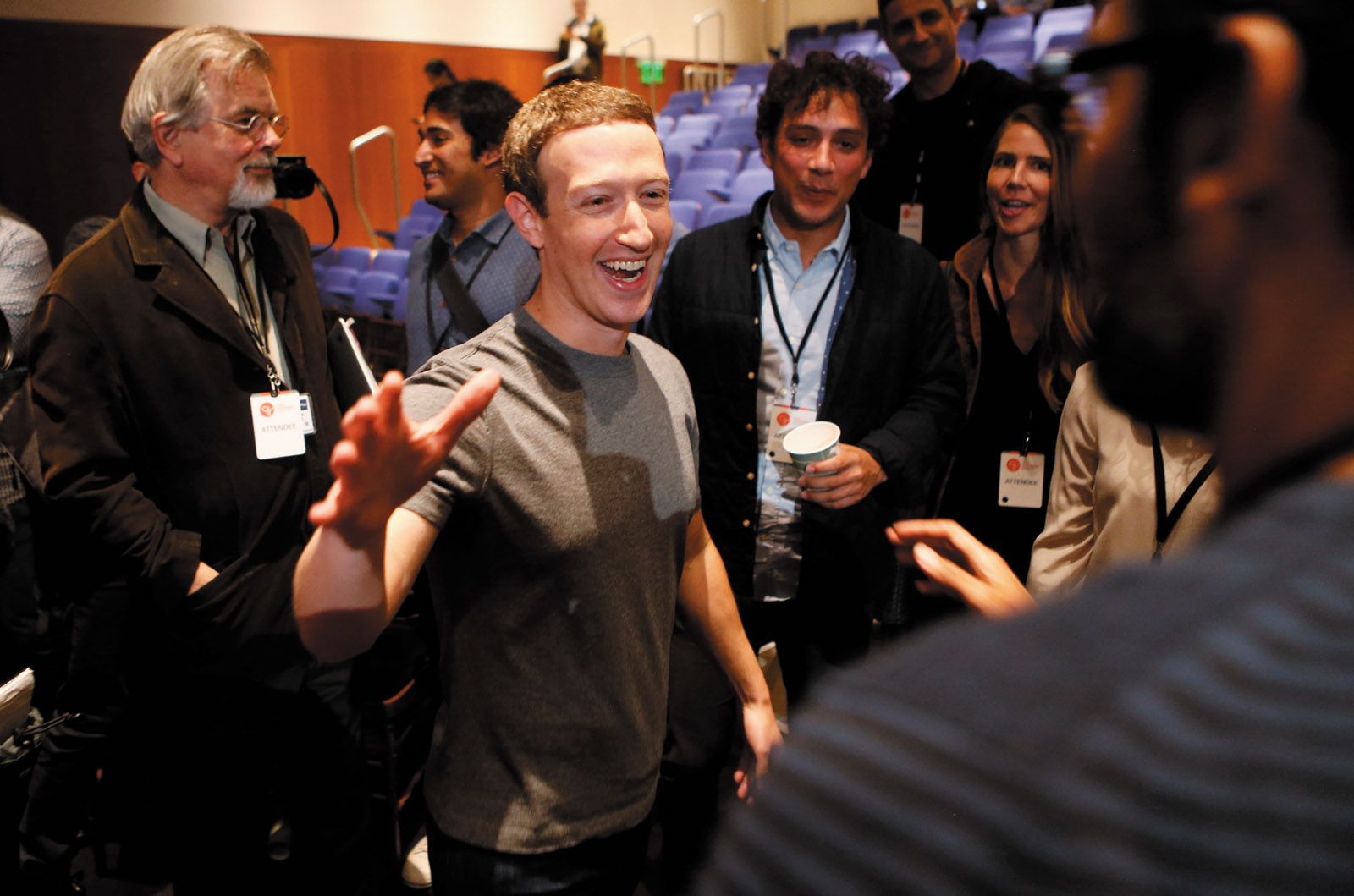 Facebook founder Mark Zuckerberg at the announcement of the Chan Zuckerberg Initiative to 'cure, prevent, or manage all disease' by the end of the century, San Francisco, September 2016