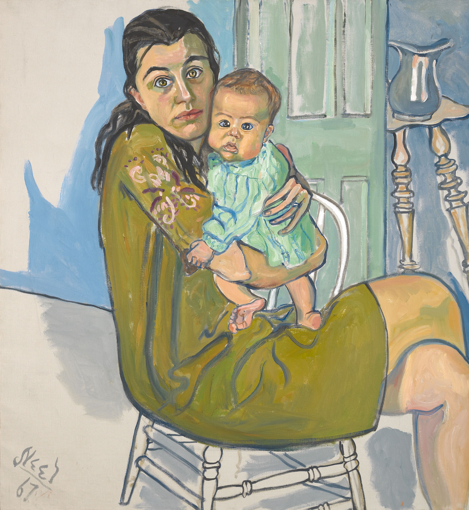 Alice Neel: Mother and Child (Nancy and Olivia), 1967