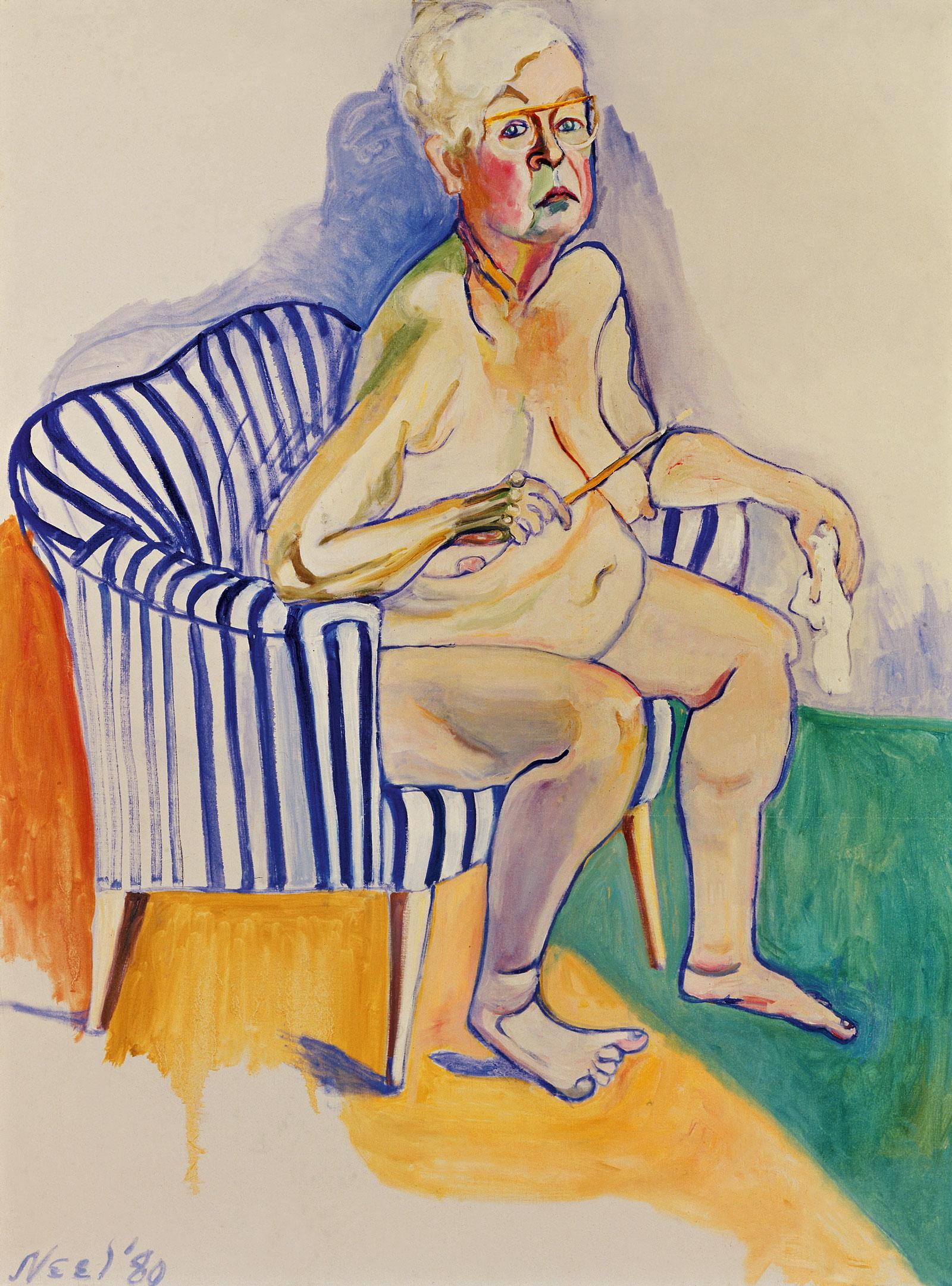 alice-neel-self-portrait