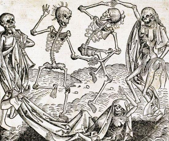 The Dance of Death by Michael Wolgemut from the Liber chronicarum by Hartmann Schedel, 1493