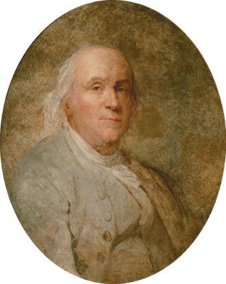 Benjamin Franklin; painting by Jean-Baptiste Greuze, late eighteenth century