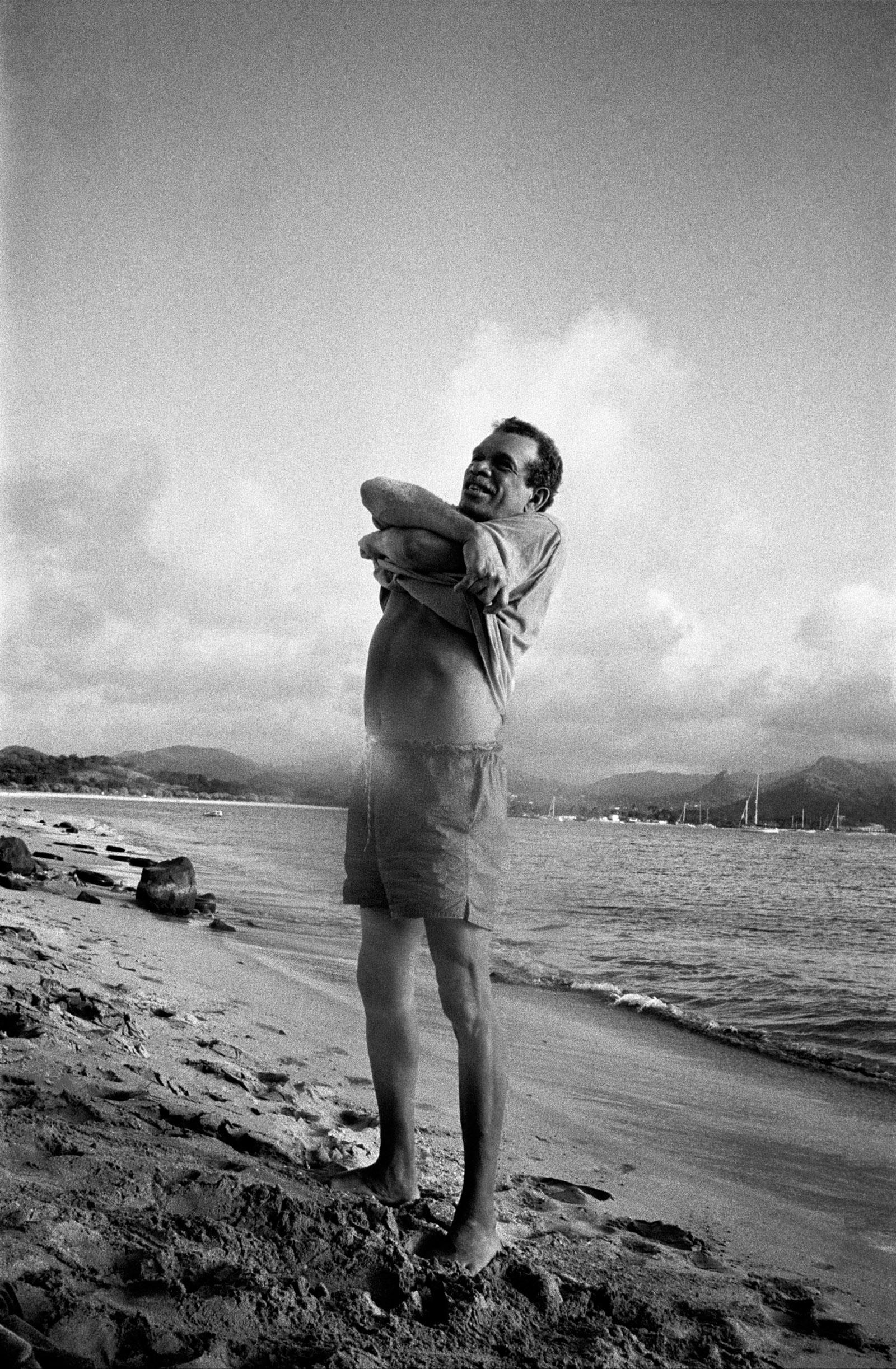 Derek Walcott, St. Lucia, 1994; photograph by Inge Morath