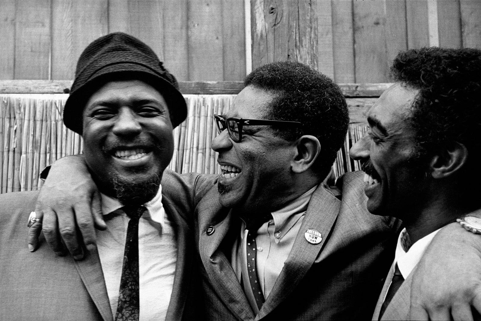 Thelonious Monk, Dizzy Gillespie, and Gerald Wilson, Monterey, 1963