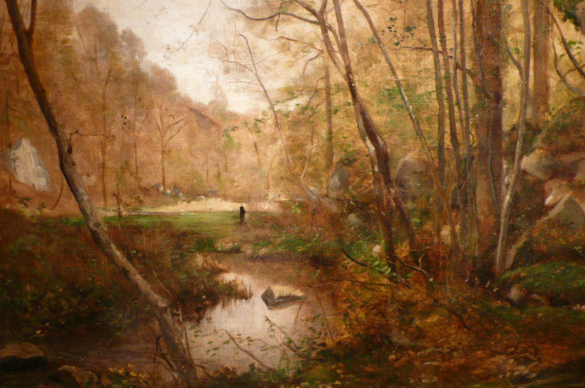 Landscape by Emmanuel Lansyer, Godard Mill at Cernay, France, 1865