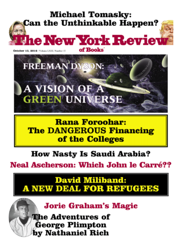 Image of the October 13, 2016 issue cover.