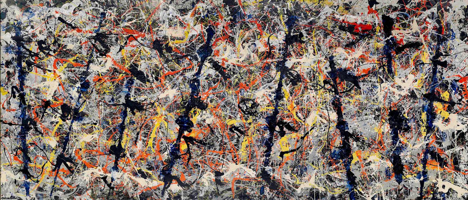 Jackson Pollock: Blue Poles, 1952; click image to enlarge
