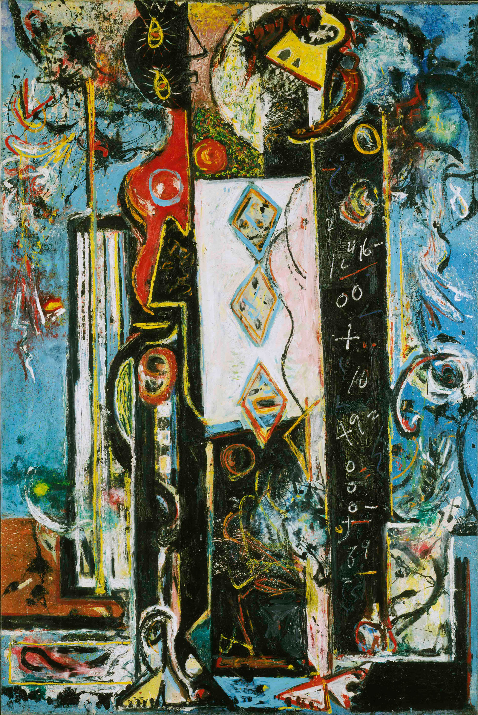 Jackson Pollock: Male and Female, 1942-43; click image to enlarge