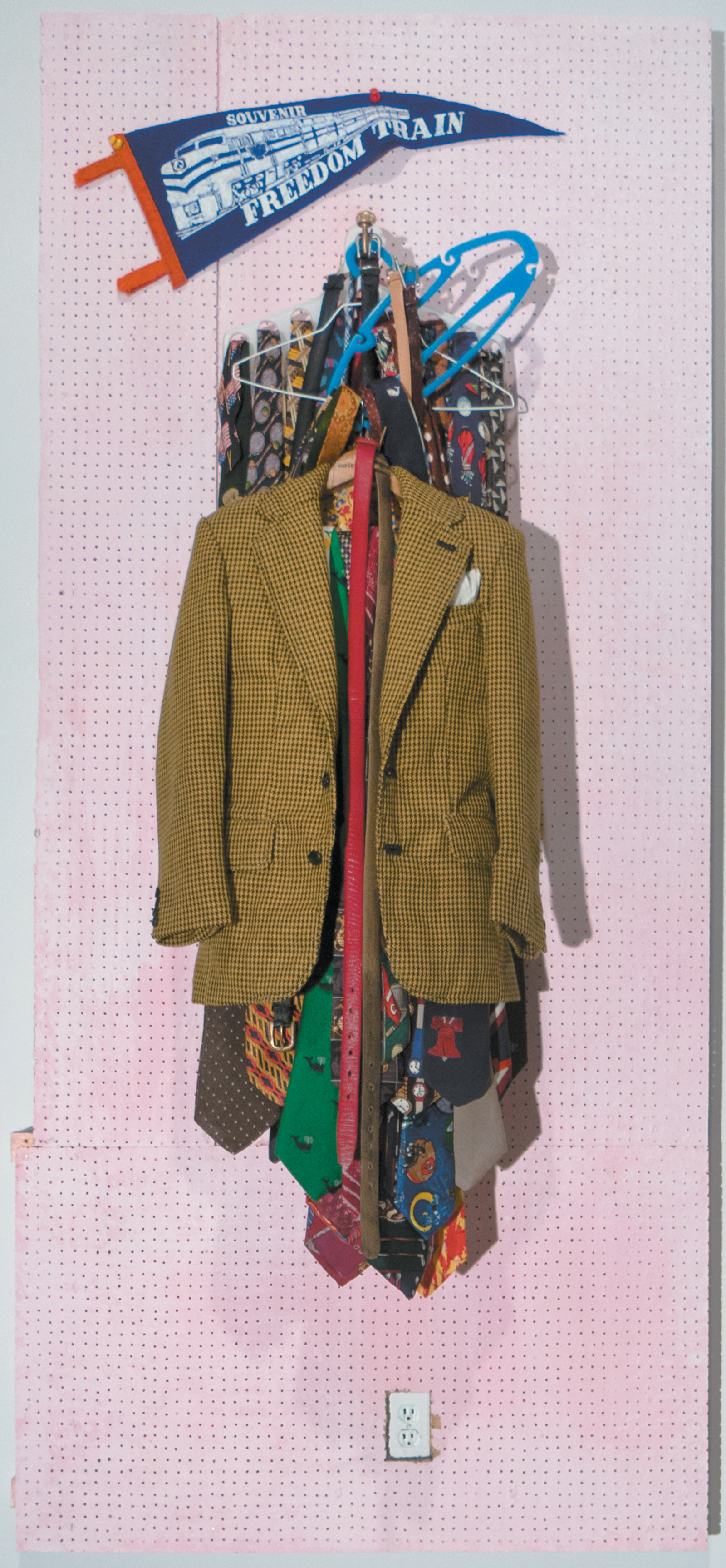 Charles LeDray: Freedom Train, 39 3/4 x 18 x 6 1/2 inches, 2013–2015. The jacket is about twenty inches high.