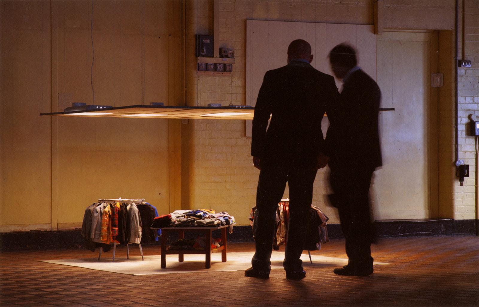 Charles LeDray: Mens Suits (2006–2009), mixed media installation