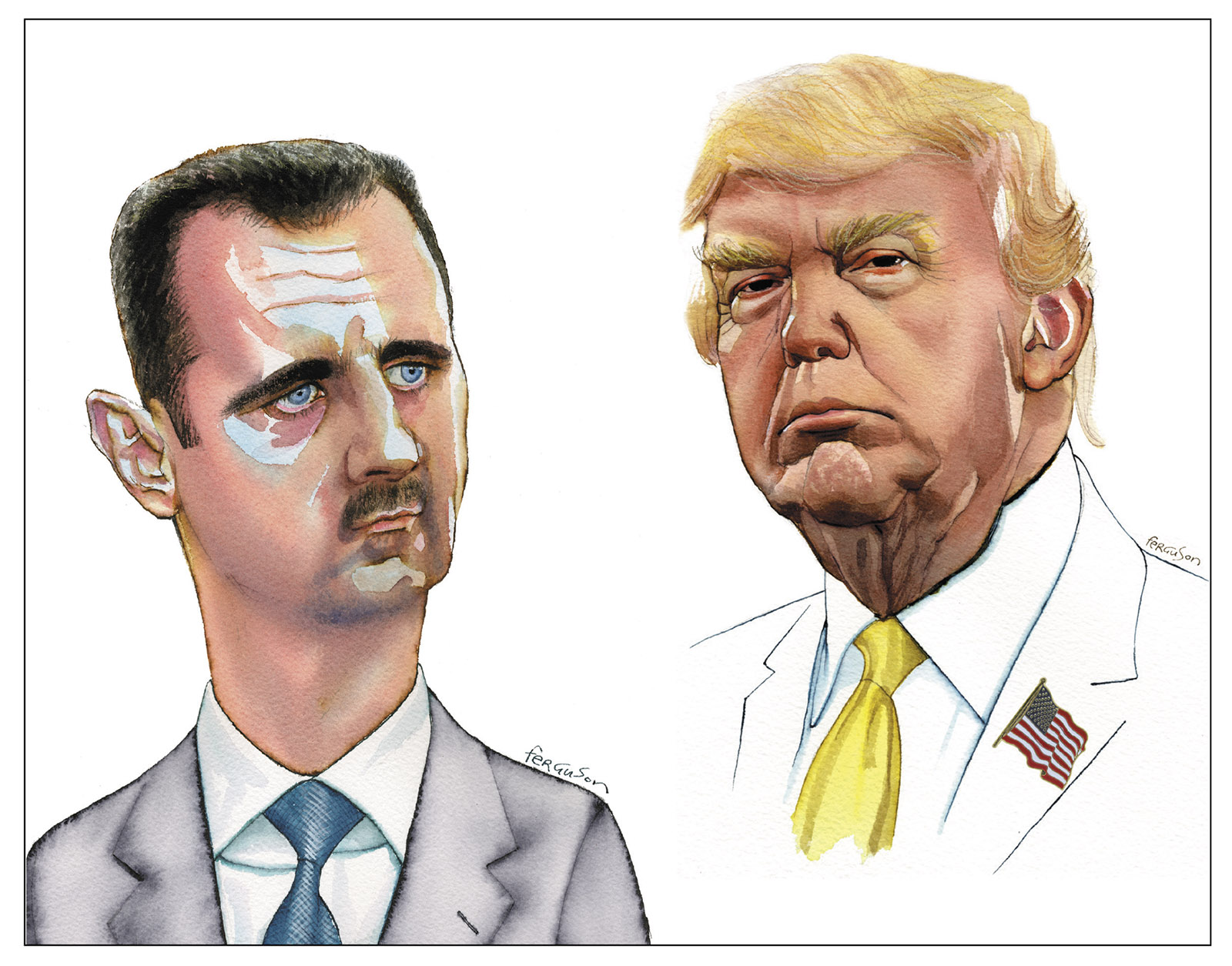 Bashar al-Assad and Donald Trump