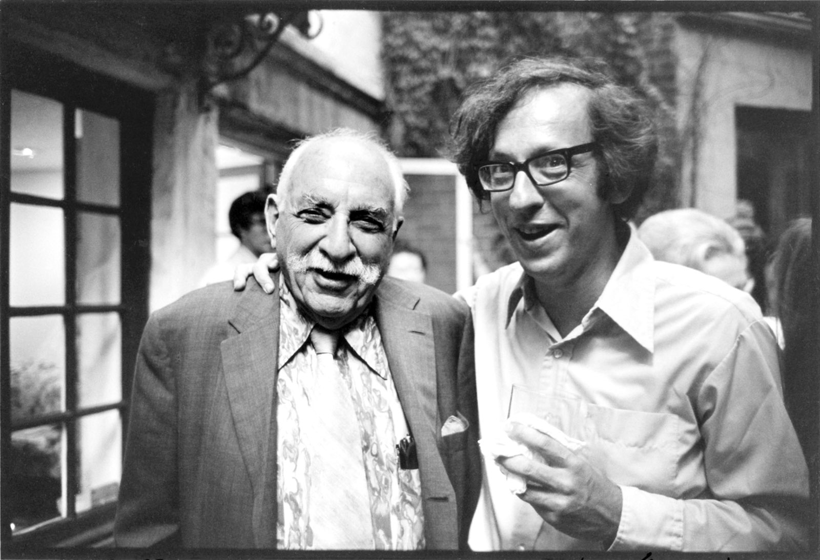 Bob Gottlieb with Alfred Knopf, New York City, July 1974
