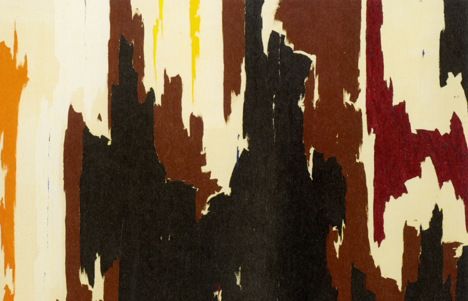 Clyfford Still: PH-150 (detail), 1958; click image to enlarge