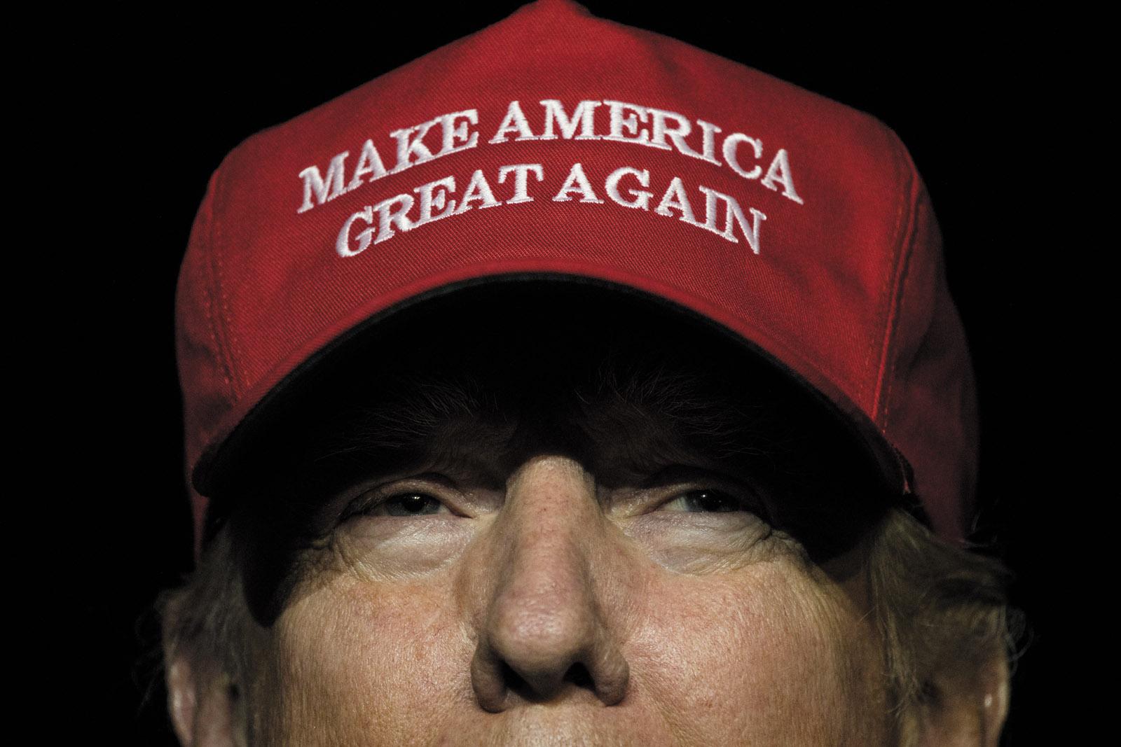 Donald Trump at his campaign rally at Pittsburgh International Airport, November 2016