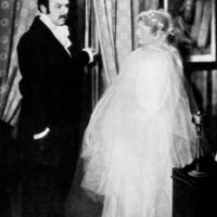 Pierre Renoir and Valentine Tessier as Charles and Emma Bovary in Jean Renoir's film adaptation of Gustave Flaubert's novel Madame Bovary, 1933