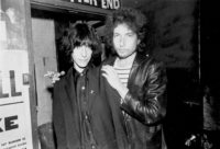 Patti Smith and Bob Dylan at the Bitter End on the night they first met, New York City, June 1975