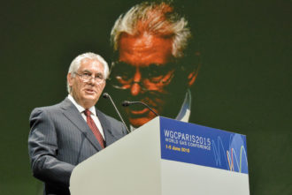 Rex Tillerson, CEO of ExxonMobil, at the World Gas Conference, Paris, June 2015