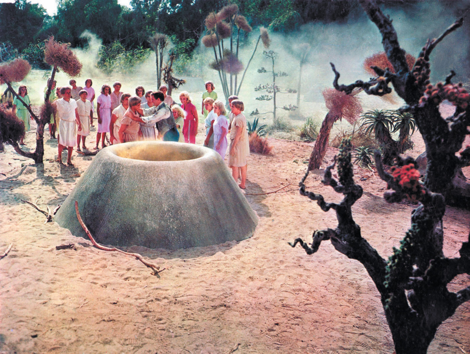 A scene from George Pal's 1960 film adaptation of The Time Machine, based on H.G. Wells's 1895 novel