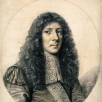 John Aubrey; portrait by William Faithorne, seventeenth century