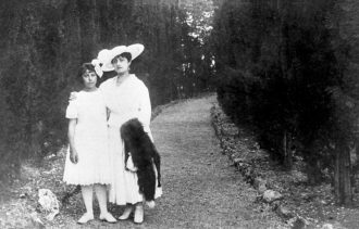 Irène Némirovsky with her mother, Fanny, before they fled Russia, circa 1916