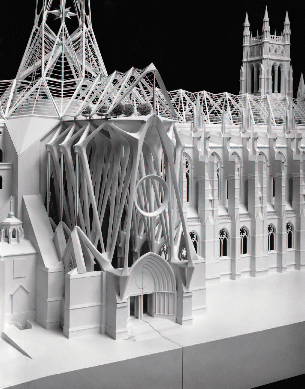 Model for Santiago Calatrava's Cathedral of St. John the Divine, 1992