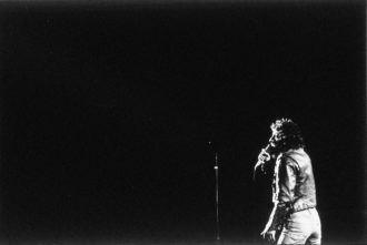 Bruce Springsteen performing at the Bottom Line, New York City, August 1975