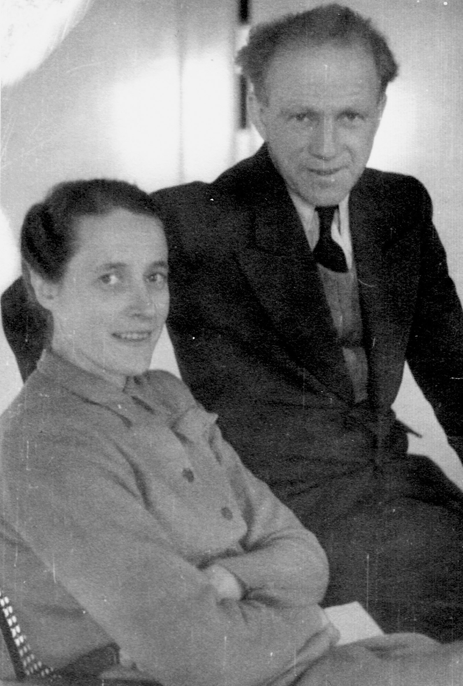 Werner and Elisabeth Heisenberg, Göttingen, Germany, circa 1946