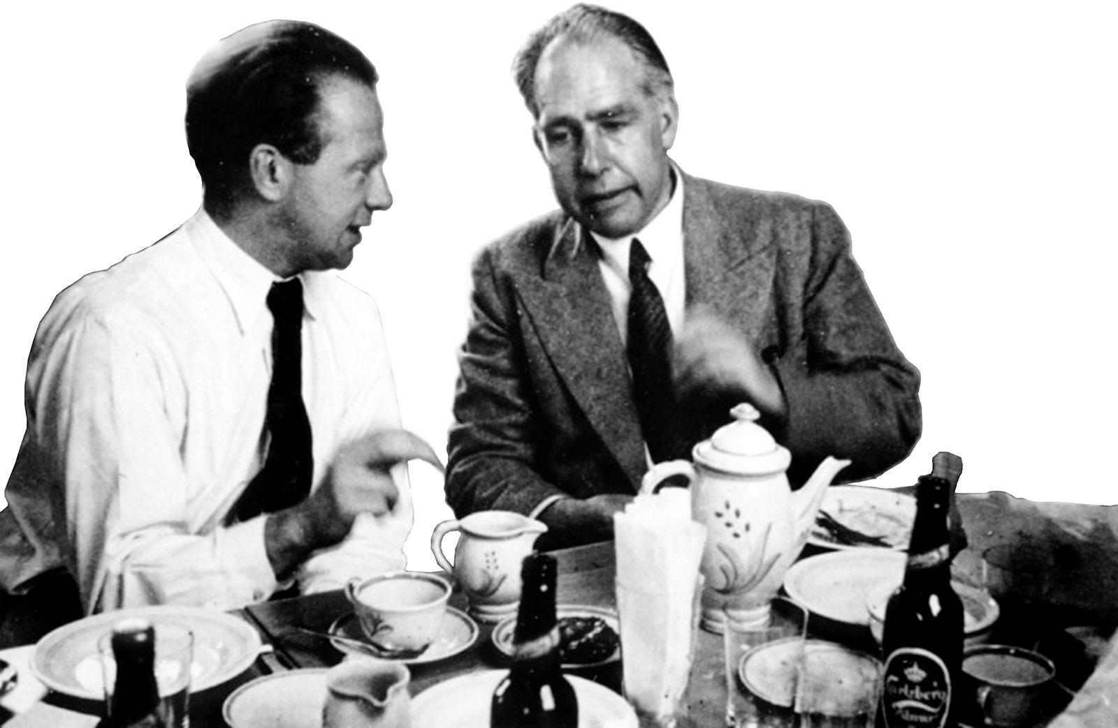 Werner Heisenberg and Niels Bohr, Copenhagen, 1934