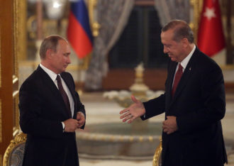 Russian President Vladimir Putin and Turkish President Recep Tayip Erdoğan Istanbul, Turkey, October, 10, 2016