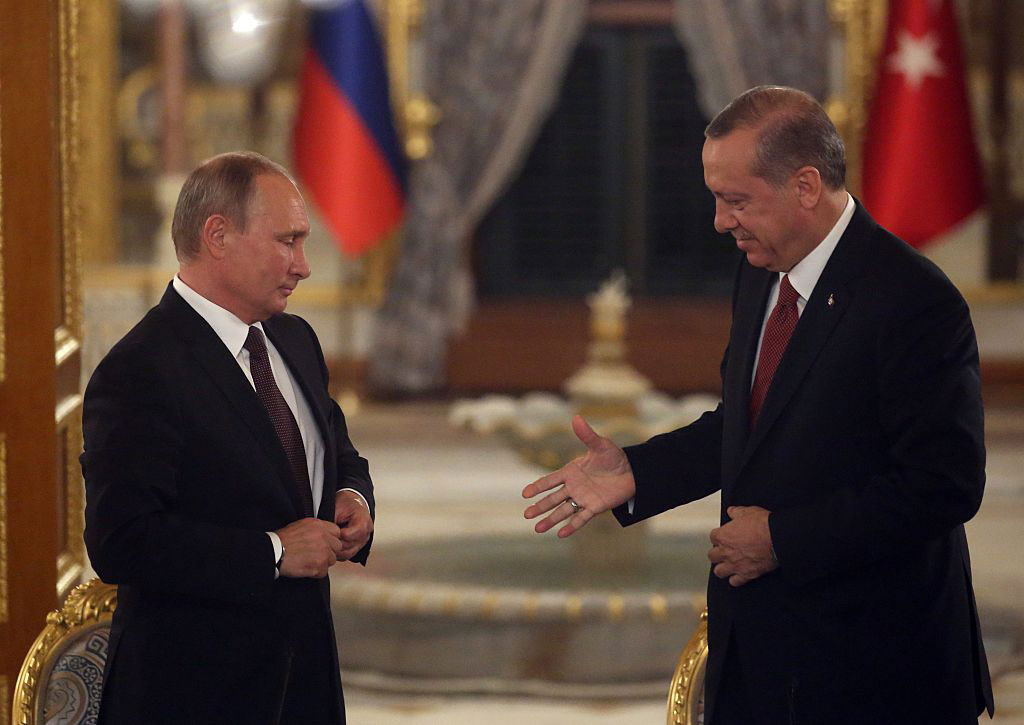 Russian President Vladimir Putin and Turkish President Recep Tayyip Erdoğan, Istanbul, October 10, 2016