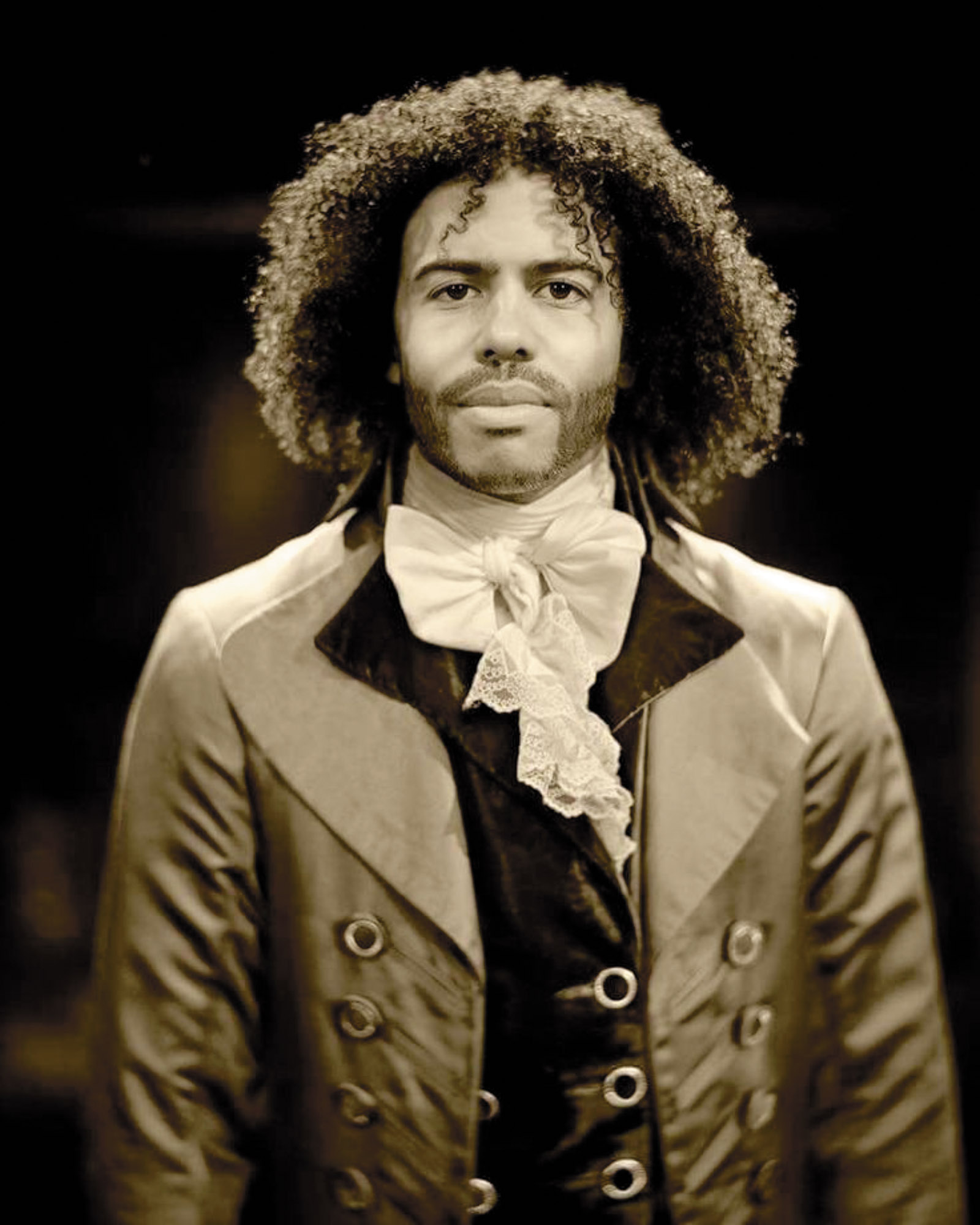 Daveed Diggs, who debuted the role of Thomas Jefferson in the Broadway show Hamilton; photograph by Josh Lehrer