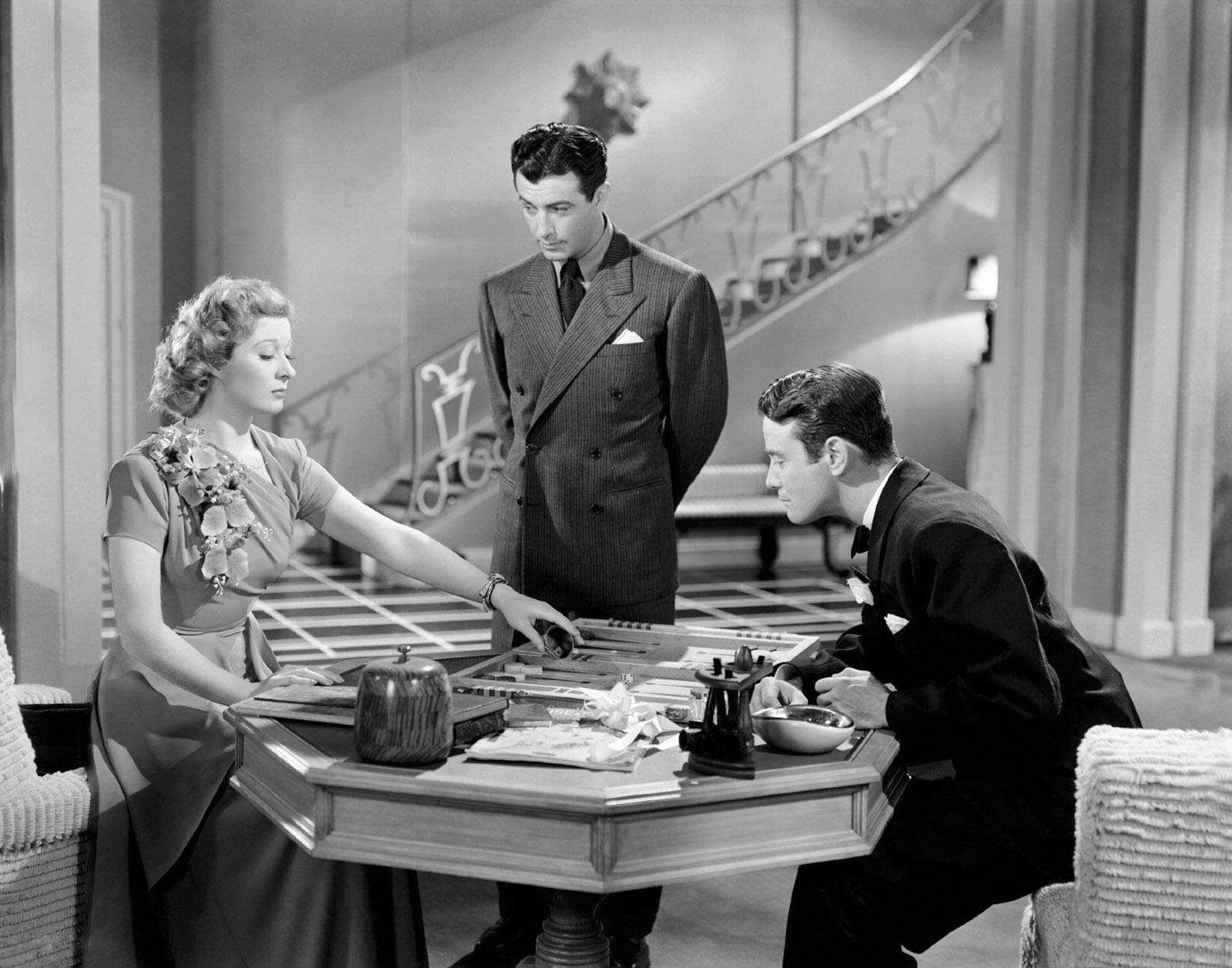Greer Garson, Robert Taylor, and Lew Ayres in Remember?, 1939