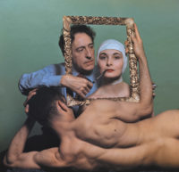 Jean Cocteau with Ricki Soma and Leo Coleman, New York City, 1949; photograph by Philippe Halsman