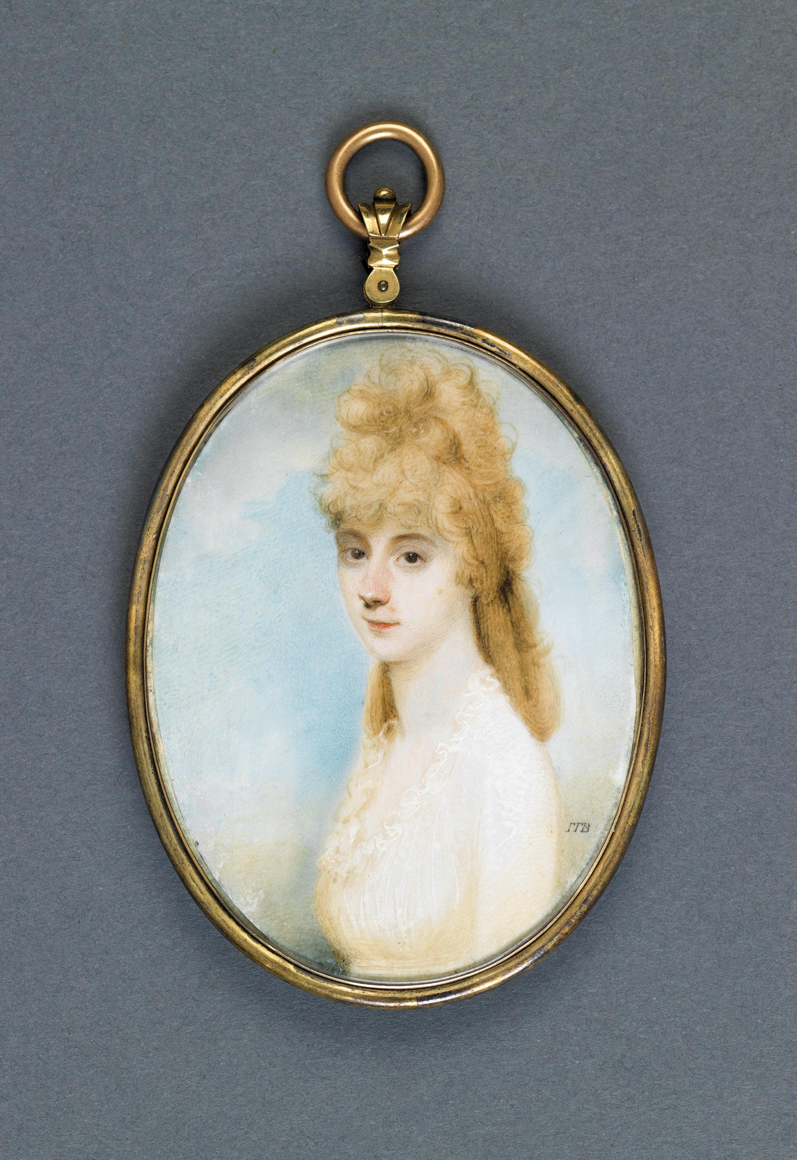 Louisa Adams; miniature painting by John Thomas Barber Beaumont, 1797