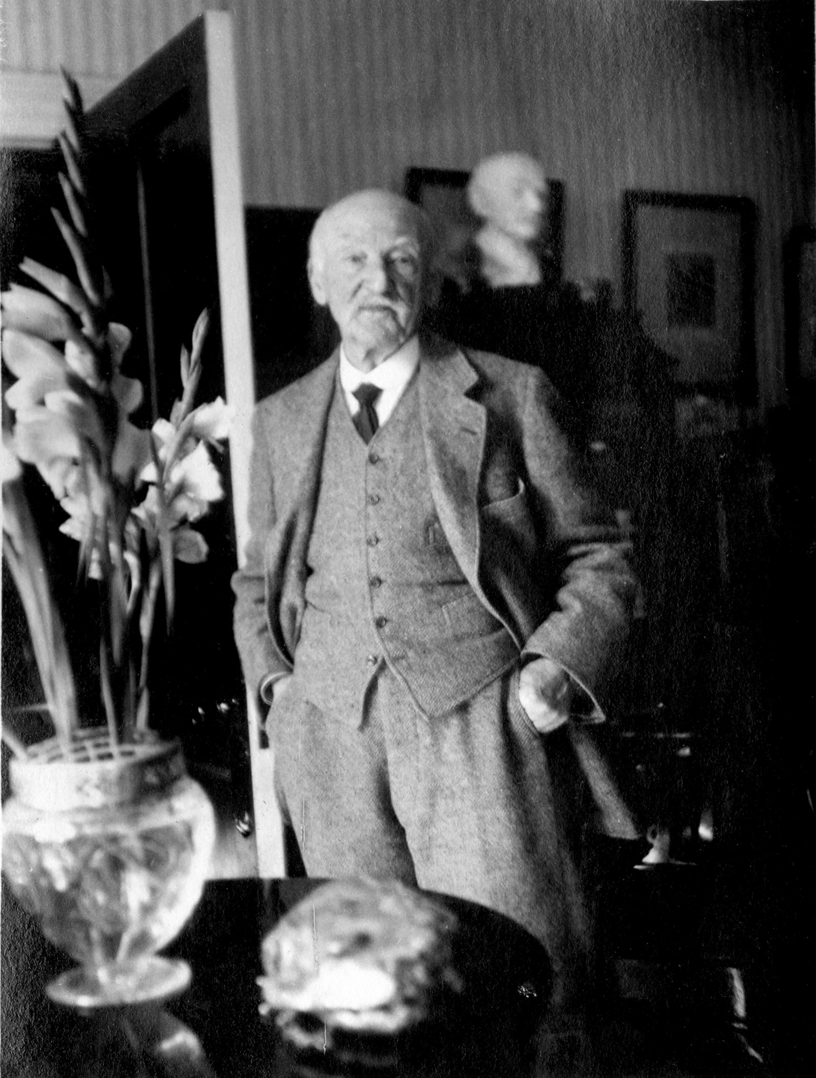 Thomas Hardy, late 1924; photograph by Ottoline Morrell
