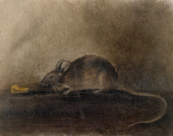 John Constable's drawing of a mouse with a piece of cheese, inscribed