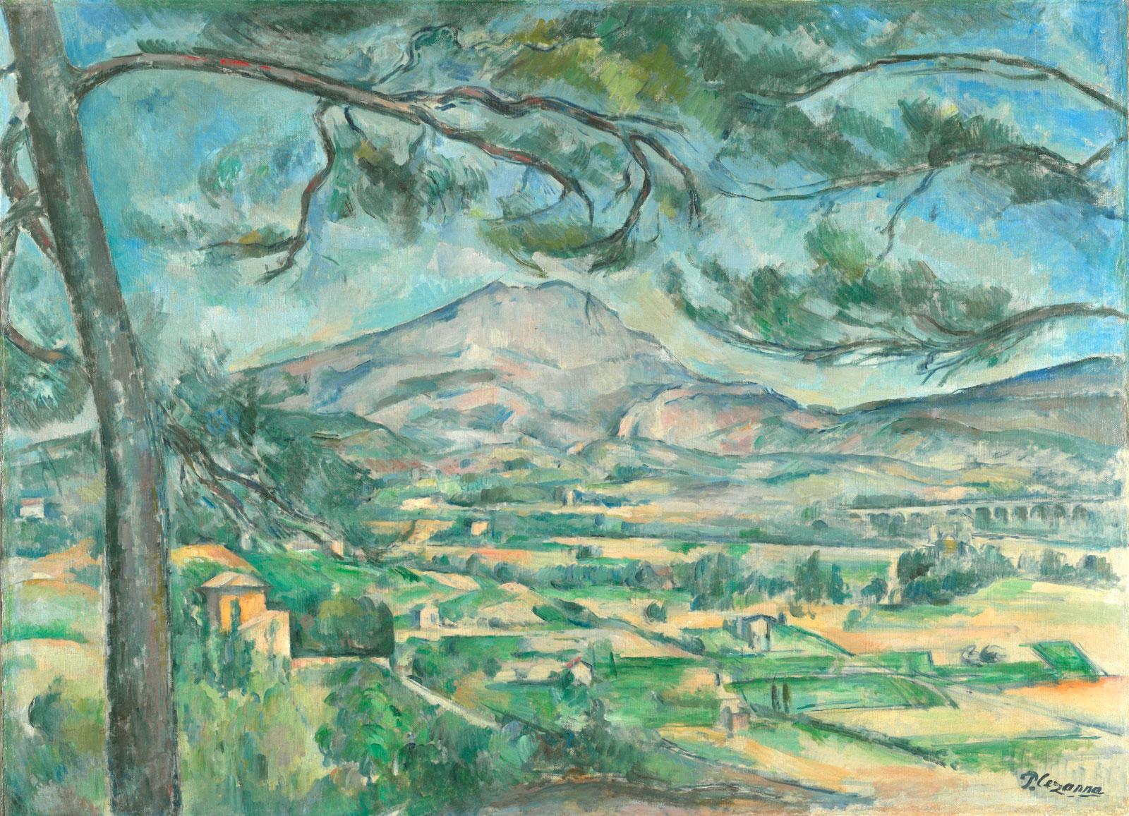 Paul Cézanne: Montagne Sainte-Victoire with Large Pine, circa 1887