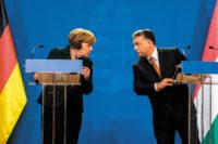 German Chancellor Angela Merkel and Hungarian Prime Minister Viktor Orbán, Budapest, February 2015