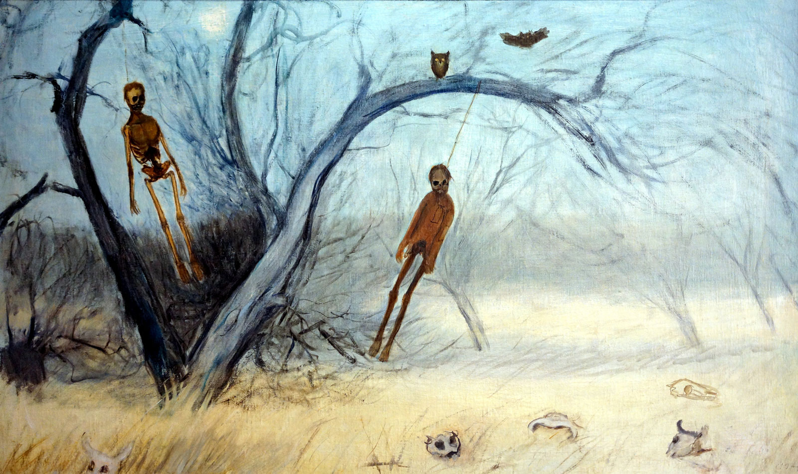 Francisco Goitia: Zacatecas Landscape with Hanged Men I, circa 1914