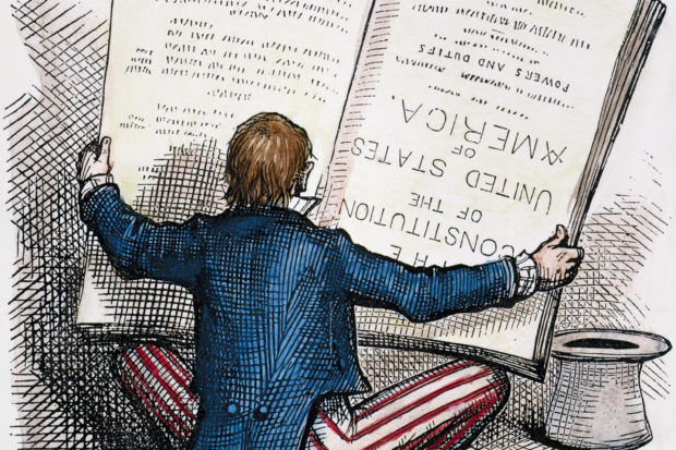 'The Electoral Vote: Now Let Us Look at It from Another Point of View'; illustration by Thomas Nast, 1876